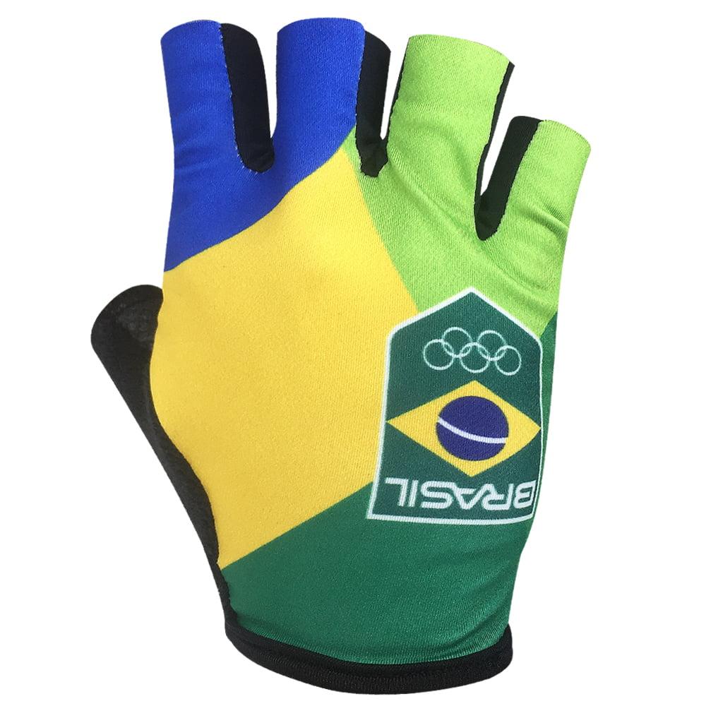 Luva de Ciclismo Barbedo Time Brasil Bandeira