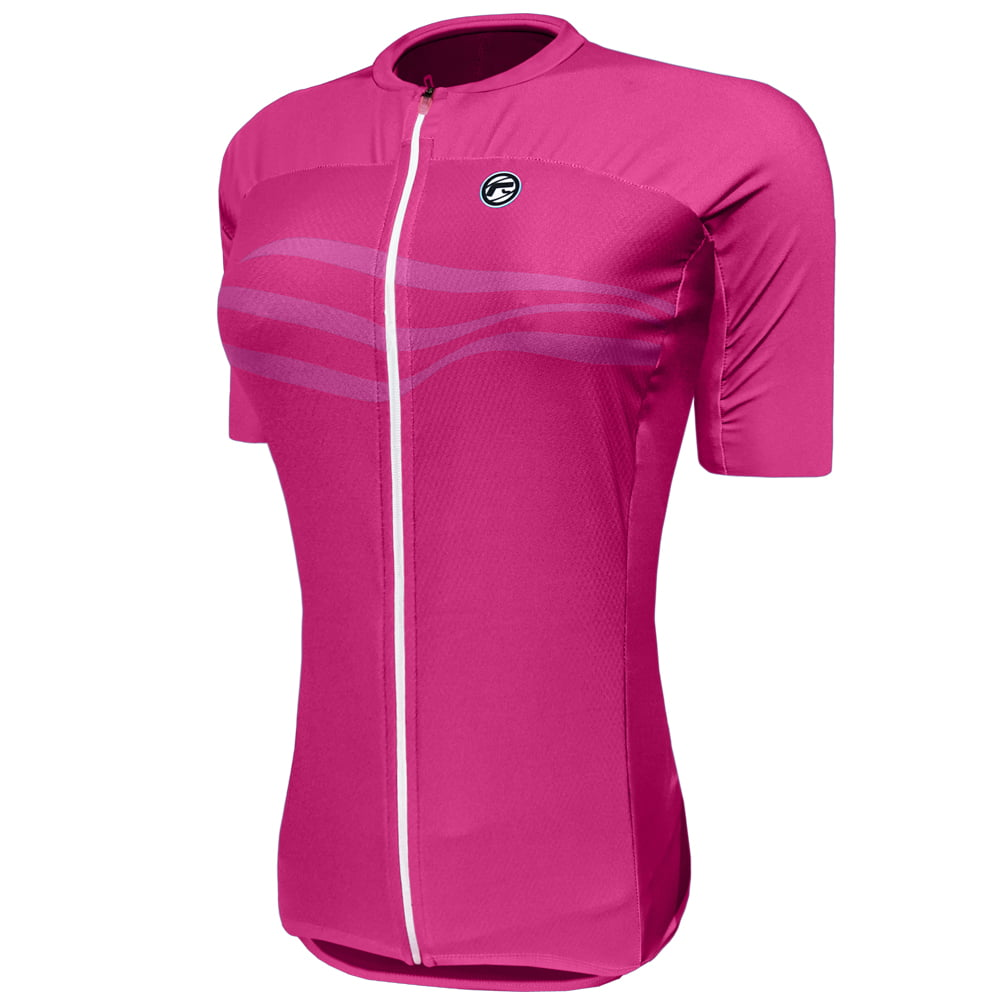 Camisa de Ciclismo Feminina Barbedo Fuji Rosa