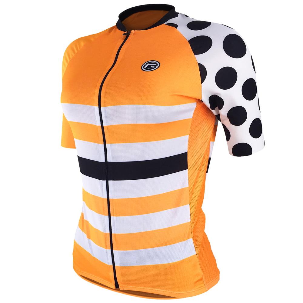 Camisa de Ciclismo Feminina Barbedo Lady Bug Laranja