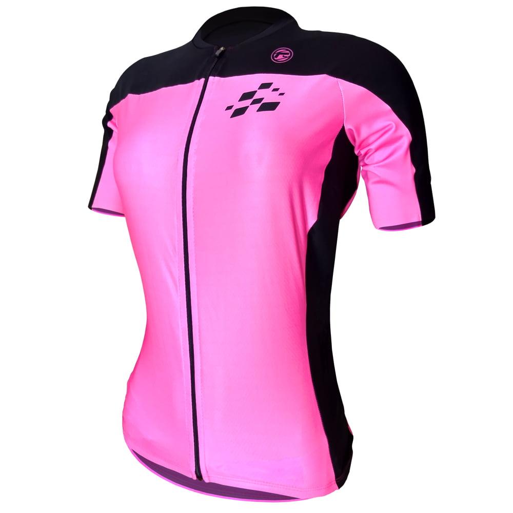 Camisa de Ciclismo Feminina Barbedo Racing Rosa