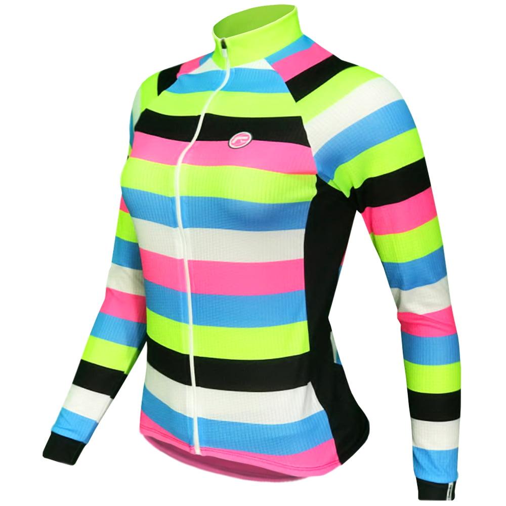 Camisa de Ciclismo Feminina Manga Longa Barbedo Agnel
