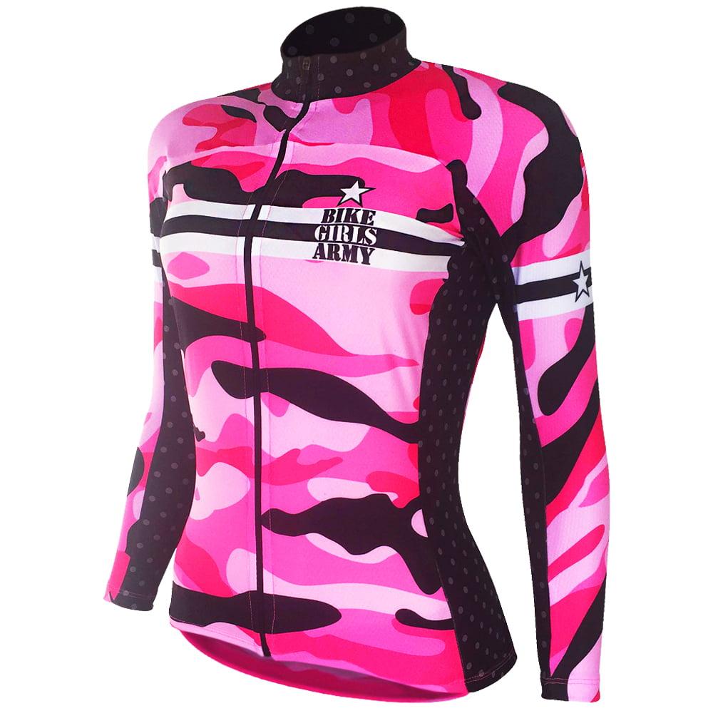 Camisa de Ciclismo Feminina Manga Longa Barbedo Bike Girls