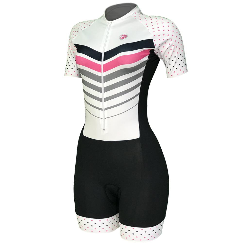Macaquinho de Ciclismo Feminino Barbedo Advance Branco