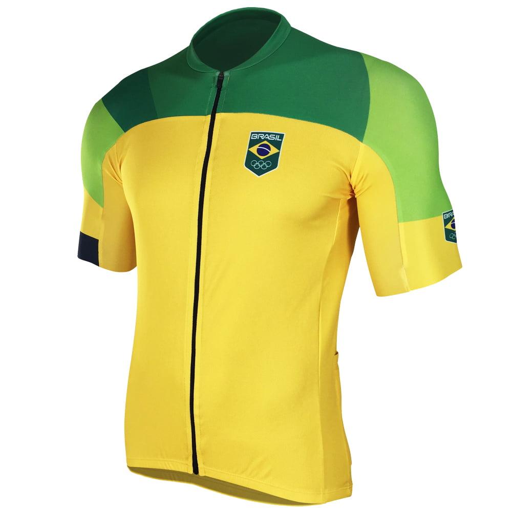Camisa de Ciclismo Barbedo Time Brasil Amarela