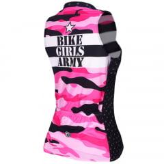 Camisa de Ciclismo Feminina Sem Manga Barbedo Bike Girls