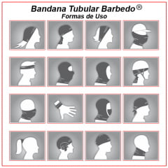Bandana Tubular Barbedo Camuflada