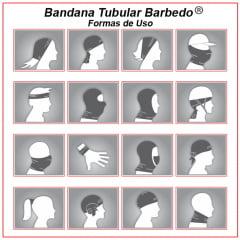 Bandana Tubular Barbedo Dayse Azul