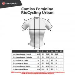 Camisa de Ciclismo Feminina RioCycling Urban Verde