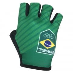 Luva de Ciclismo Barbedo Time Brasil Verde