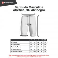Bermuda de Ciclismo Barbedo Atlético-MG Alvinegro
