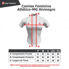 Camisa de Ciclismo Feminina Barbedo Atlético-MG Alvinegro