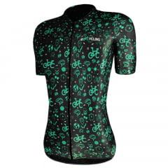 Camisa de Ciclismo Feminina RioCycling Urban Preta