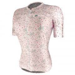 Camisa de Ciclismo Feminina RioCycling Urban Rosa