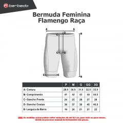 Bermuda de Ciclismo Feminina Barbedo Flamengo Raça