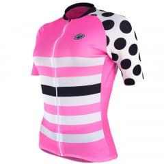 Camisa de Ciclismo Feminina Barbedo Lady Bug Rosa