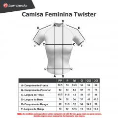 Camisa de Ciclismo Feminina Barbedo Twister