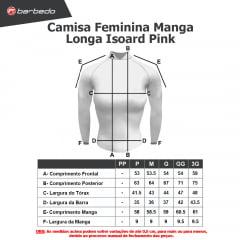 Camisa de Ciclismo Feminina Manga Longa Barbedo Isoard Rosa