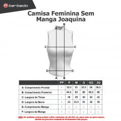 Camisa de Ciclismo Feminina Sem Manga Barbedo Joaquina Laranja