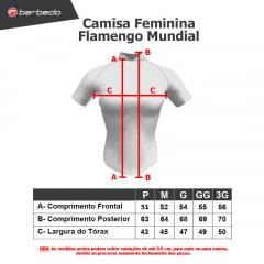 Camisa de Ciclismo Feminina Barbedo Flamengo Mundial