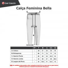 Calça de Ciclismo Feminina Barbedo Bella