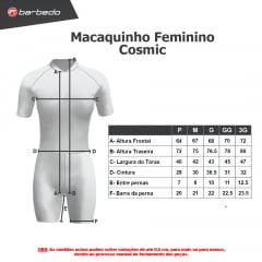 Macaquinho de Ciclismo Feminino Barbedo Cosmic