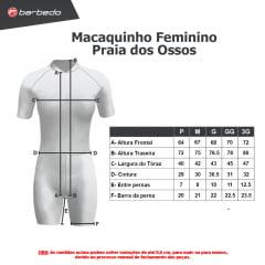 Macaquinho de Ciclismo Feminino Barbedo Praia dos Ossos