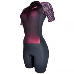 Macaquinho de Ciclismo Feminino Barbedo Racing Rosa