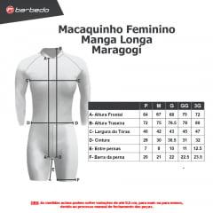 Macaquinho de Ciclismo Feminino Manga Longa Barbedo Maragogi Vermelho