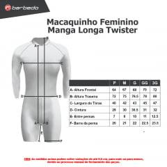 Macaquinho de Ciclismo Feminino Manga Longa Barbedo Twister
