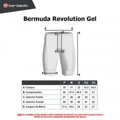 Bermuda de Ciclismo Barbedo Revolution Gel