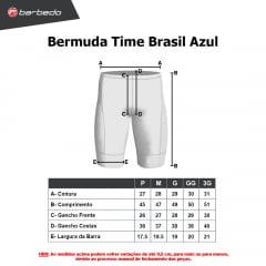 Bermuda de Ciclismo Barbedo Time Brasil Azul
