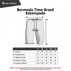 Bermuda de Ciclismo Barbedo Time Brasil Estampada