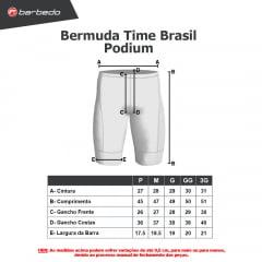 Bermuda de Ciclismo Barbedo Time Brasil Podium