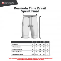 Bermuda de Ciclismo Barbedo Time Brasil Sprint Final