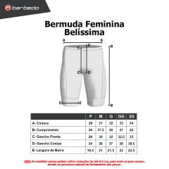 Bermuda de Ciclismo Feminina Barbedo Belíssima