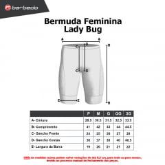 Bermuda de Ciclismo Feminina Barbedo Lady Bug Laranja
