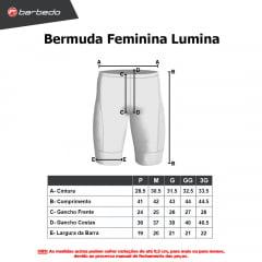 Bermuda de Ciclismo Feminina Barbedo Lumina
