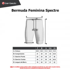 Bermuda de Ciclismo Feminina Barbedo Spectre