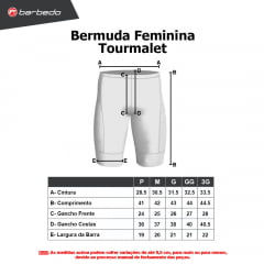Bermuda de Ciclismo Feminina Barbedo Tourmalet