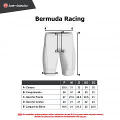 Bermuda de Ciclismo Racing Azul