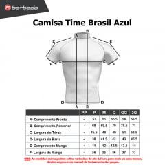 Camisa de Ciclismo Barbedo Time Brasil Azul