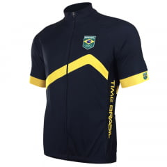 Camisa de Ciclismo Barbedo Time Brasil Azul/Amarelo