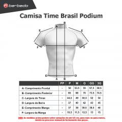 Camisa de Ciclismo Barbedo Time Brasil Podium