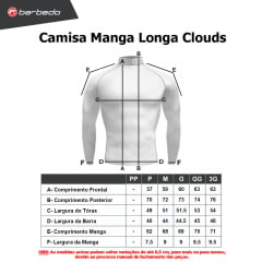 Camisa de Ciclismo Manga Longa Barbedo Clouds