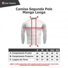 Camisa de Ciclismo Segunda Pele Manga Longa Barbedo Ultra Micro Preta